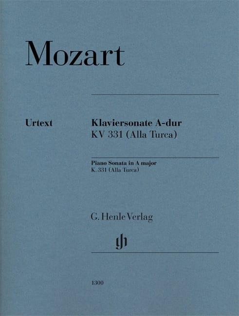 Sonate en La Majeur - MOZART - Partition - Piano - laflutedepan.com