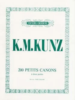 200 Petits Canons Opus 14 K.M. Kunz Partition Piano - laflutedepan
