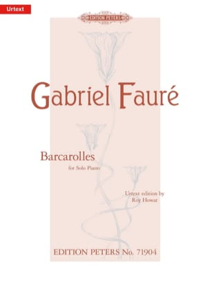 Barcarolles FAURÉ Partition Piano - laflutedepan