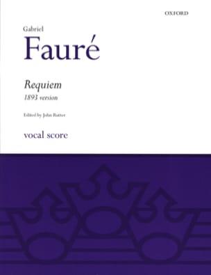 Requiem 1893 FAURÉ Partition Chœur - laflutedepan
