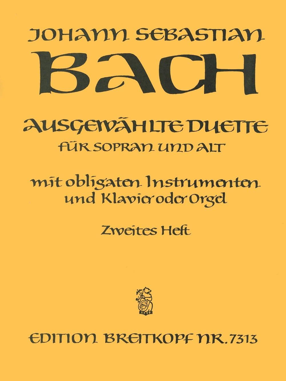 Ausgewählte Duette Sopran und Alt Volume 2 - BACH - laflutedepan.com