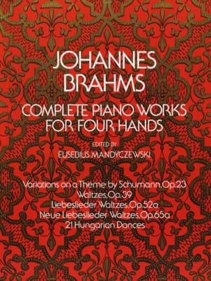 Oeuvres Complètes pour piano à 4 mains BRAHMS Partition laflutedepan