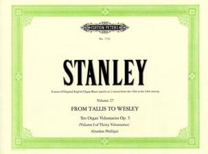 10 Voluntaries Opus 5 John Stanley Partition Orgue - laflutedepan