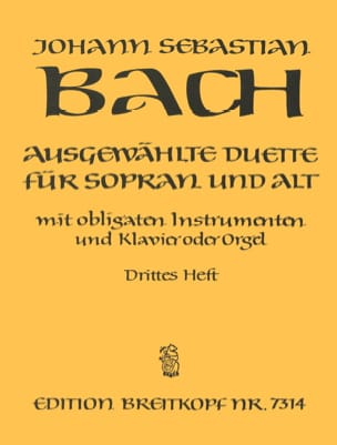 BACH - Ausgewählte Duet Sopran and Alt Volume 3 - Partition - di-arezzo.co.uk