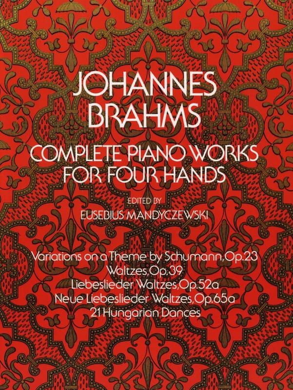 Oeuvres Complètes pour piano à 4 mains - BRAHMS - laflutedepan.com
