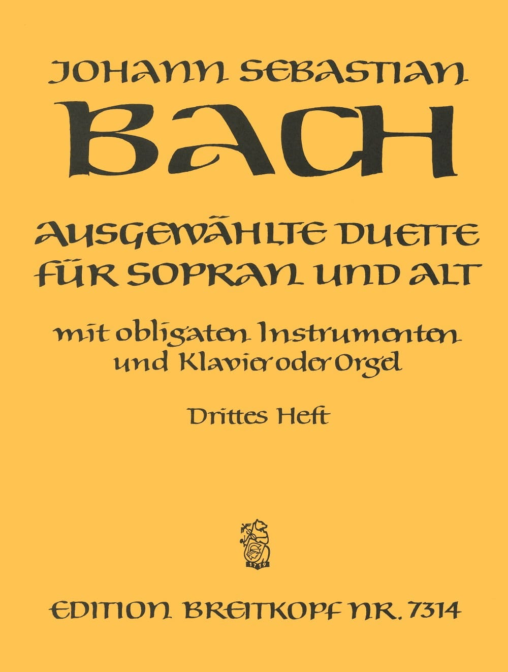 Ausgewählte Duette Sopran und Alt Volume 3 - BACH - laflutedepan.com