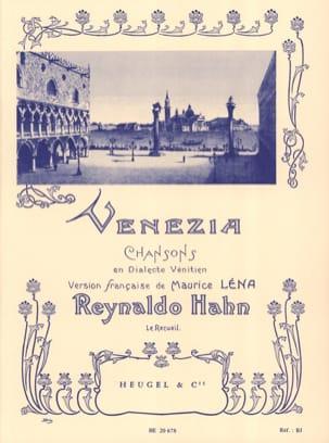Venezia Reynaldo Hahn Partition Mélodies - laflutedepan