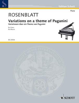 Variations sur un Thème de Paganini Alexander Rosenblatt laflutedepan