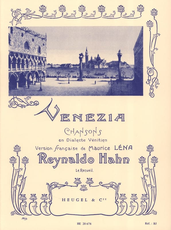 Venezia - Reynaldo Hahn - Partition - Mélodies - laflutedepan.com