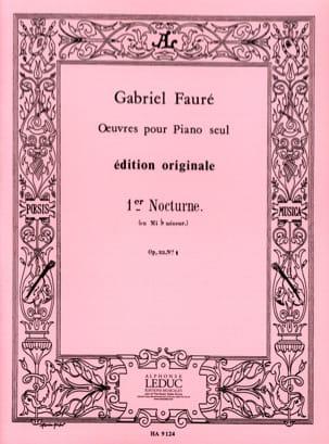 Nocturne N°1 Opus 33-1 FAURÉ Partition Piano - laflutedepan