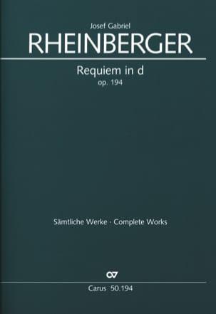 Requiem En Ré Mineur Opus 194 RHEINBERGER Partition laflutedepan