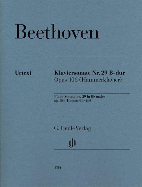 Sonate pour piano n° 29 en Si bémol majeur Op. 106 - laflutedepan.com