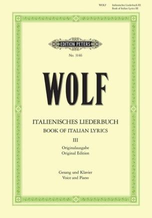 Italienisches Liederbuch Volume 3 Hugo Wolf Partition laflutedepan
