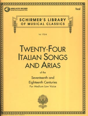 24 Italian Songs And Arias Voix Grave Partition laflutedepan
