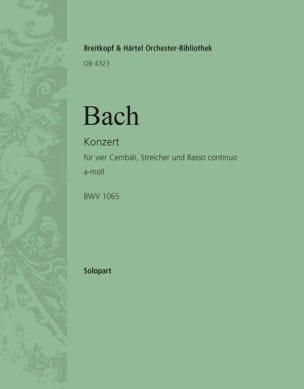 Concerto Pour 4 Claviers BWV 1065. Clavier 1 - BACH - laflutedepan.com