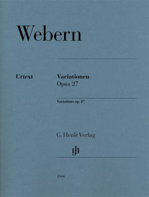 Variations Opus 27 WEBERN Partition Piano - laflutedepan