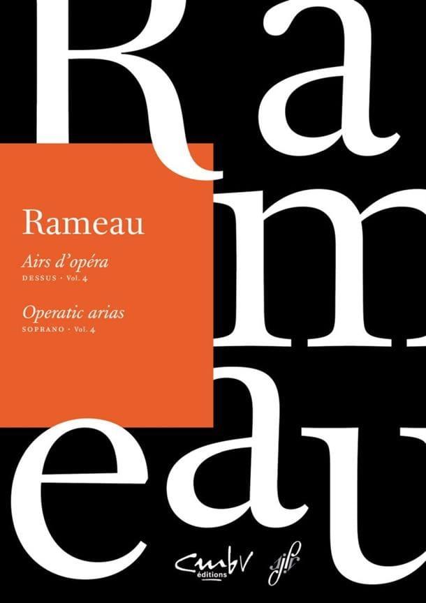 Airs d'opéra Dessus volume 4 - RAMEAU - Partition - laflutedepan.com