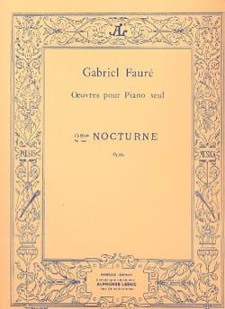 Nocturne N°2 Opus 33-2 FAURÉ Partition Piano - laflutedepan