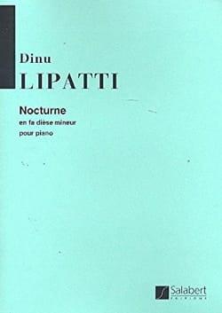 Nocturne en fa dièse mineur Dinu Lipatti Partition laflutedepan