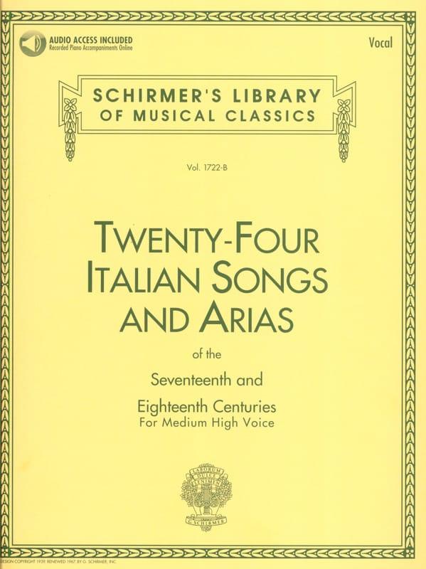 24 Italian Songs And Arias Voix Haute - laflutedepan.com