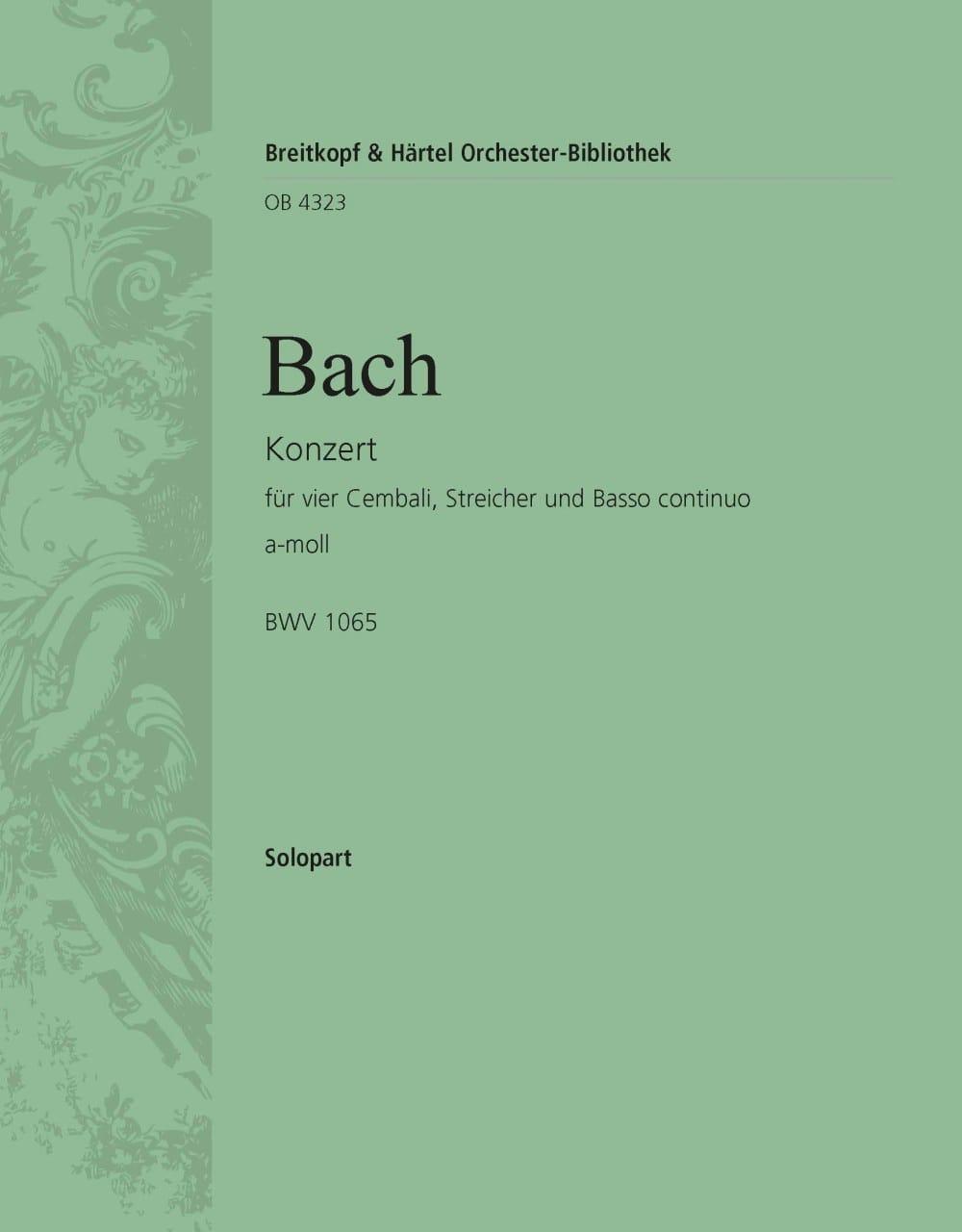 Concerto Pour 4 Claviers BWV 1065. Clavier 2 - BACH - laflutedepan.com