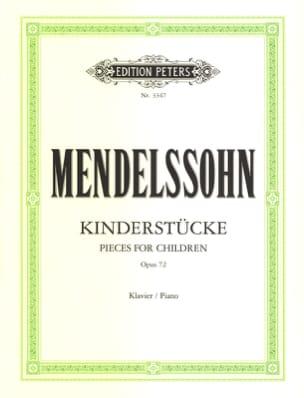 Kinderstücke Opus 72 MENDELSSOHN Partition Piano - laflutedepan