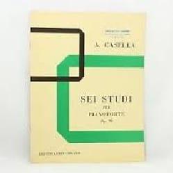 6 Studi Opus 70 Alfredo Casella Partition Piano - laflutedepan