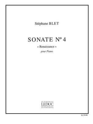 Sonate N° 4 op. 40 Stéphane Blet Partition Piano - laflutedepan
