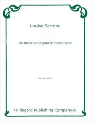 Air Russe Varié Pour le Piano-Forte Louise Farrenc laflutedepan