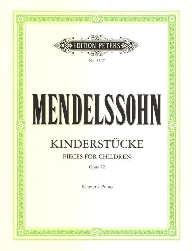 Kinderstücke Opus 72 - MENDELSSOHN - Partition - laflutedepan.com