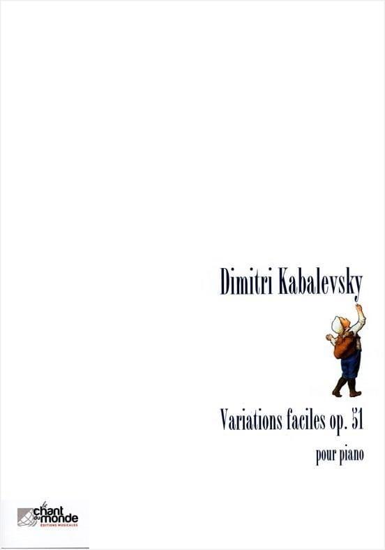 Variations Faciles Opus 51 - KABALEVSKY - Partition - laflutedepan.com