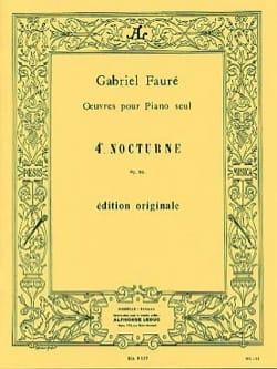 Nocturne N° 4 Opus 36 FAURÉ Partition Piano - laflutedepan