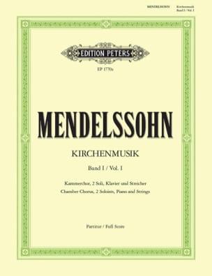 Kirchenmusik - Volume 1 MENDELSSOHN Partition Chœur - laflutedepan