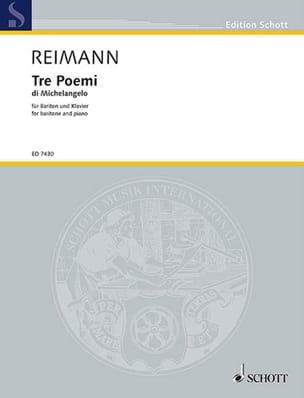 3 Poemi di Michelangelo (1985) Aribert Reimann Partition laflutedepan