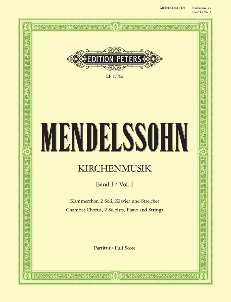 Kirchenmusik - Volume 1 - MENDELSSOHN - Partition - laflutedepan.com