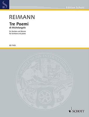 3 Poemi di Michelangelo (1985) - Aribert Reimann - laflutedepan.com