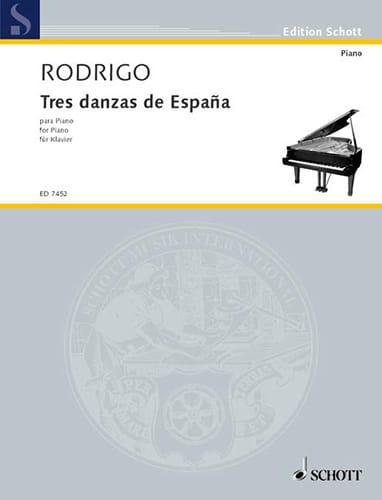 3 Danzas de España 1941 - RODRIGO - Partition - laflutedepan.com