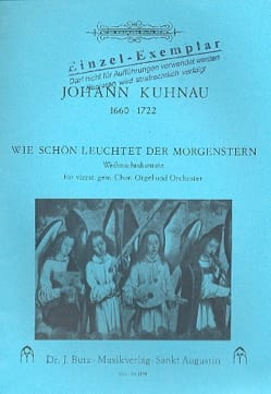 Wie schön leuchtet der Morgenstern Johann Kuhnau laflutedepan