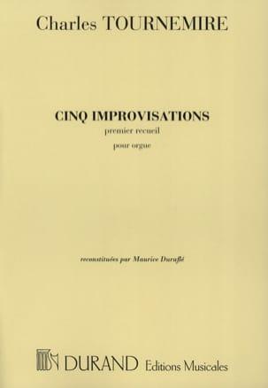 5 Improvisations Volume 1 Charles Tournemire Partition laflutedepan