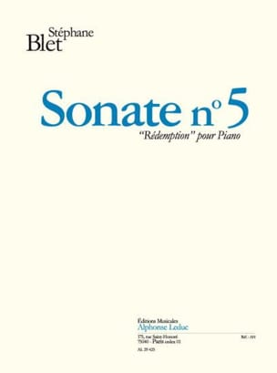 Sonate N° 5 Rédemption Opus 62 Stéphane Blet Partition laflutedepan