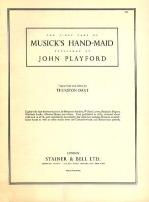 Musick's Handmaid 1 Partition Clavecin - laflutedepan
