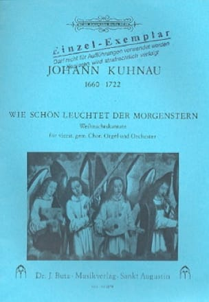 Wie schön leuchtet der Morgenstern - Johann Kuhnau - laflutedepan.com
