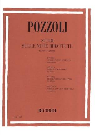 Etudes sur les notes redoublées Ettore Pozzoli Partition laflutedepan