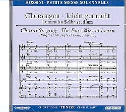 Petite Messe Solennelle. CD Ténor ROSSINI Partition laflutedepan