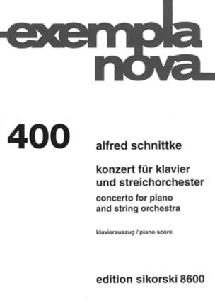 Concerto Pour Piano et Orchestre A Cordes SCHNITTKE laflutedepan