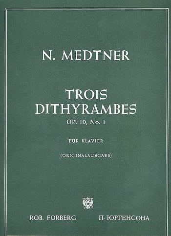 3 Dithyrambes Op. 10-1 - Nicolai Medtner - laflutedepan.com