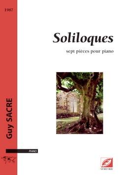 Soliloques Guy Sacre Partition Piano - laflutedepan