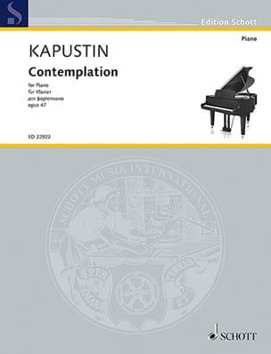 Contemplation opus 47 - Nikolai Kapustin - laflutedepan.com