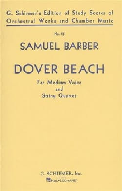 Dover Beach Opus 3 Conducteur BARBER Partition laflutedepan