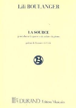 La Source Lili Boulanger Partition Chœur - laflutedepan